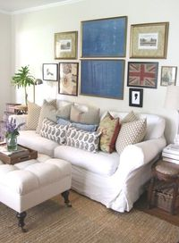 Holly Mathis living room gallery wall
