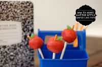How to Make Glitter Apple Cake Pops