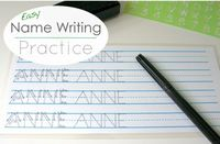 A super simple way to encourage children to learn how to write their name...