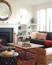 Modern Farmhouse: eclectic living room