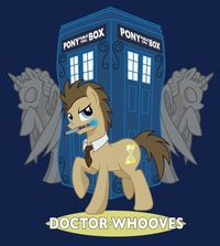 Doctor Whooves with the Weeping Unicorns oh I love cross fandom fusion