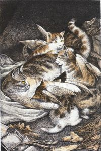 Catwings by Ursula K LeGuin   illustration by S.D. Schindler