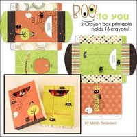 Printable crayon boxes - nice alternative to trick or treat candy #fall
