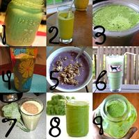 7 days-worth of green smoothies!