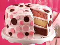Neapolitan Confetti Cake - great birthday cake!