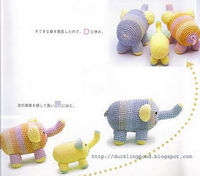 cute amigurumi elephants
