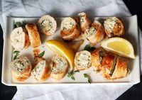 Chicken Roulade. In this elegant Greek-inspired dish, boneless breasts are flattened and rolled with a flavorful feta-and-oregano filling. Recipe by Jeanne Kelley. Pinned from Bon Appetit.