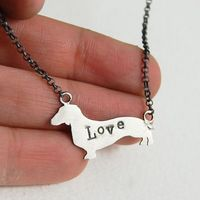 Sterling Silver Dachshund Dog