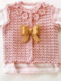Free Crochet Pattern Newborn Vest : Cute Baby Girl Vest free crochet pattern / baby time ...