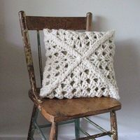 chunky granny square pillow...