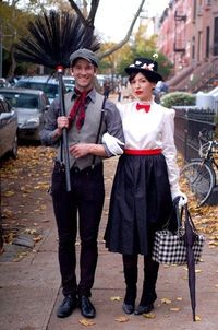 Mary Poppins and Bert, the Chimney sweep