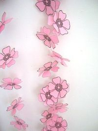 Panda With Cookie: Pink Paper Flower Garland on Indie Spotting