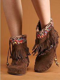 freepeople fringe moccasin boot