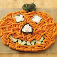Halloween Party Ideas from Taste of Home, including Pumpkin Veggie Tray
