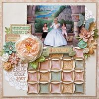 Princess Lessons STUPENDOUS sized. love the quilted background