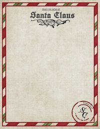 Letter from Santa {free printable}