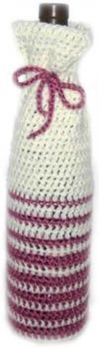Free Crochet Patterns For Jug Covers : Free crochet pattern - easy striped wine bottle cover ...