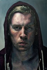 Self-portrait by ~StefanRess (Go here to see an awesome time lapse of this oil painting: youtu.be/cjFGgp5m fs )