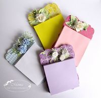 Post it holders using spellbinders labels