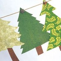 Festive forest garland - use scrap paper