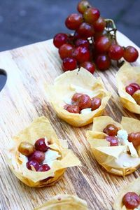 Roasted Grape & Blue Cheese Bites