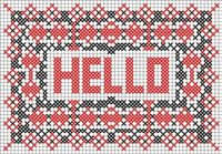 free download cross stitch pattern postcards