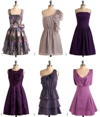 Vintage inspired bridesmaid dresses