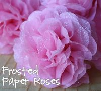 Frosted Paper Roses