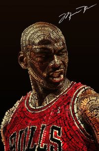 Michael Jordan Typography Art