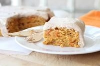 Frosted Carrot Ancho Snack Cake