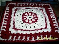 "Cats & Crochet Don't Mix: Cherries Jubilee 12"" Square"