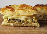 Blue cheese grilled cheese