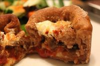 Deep dish pizza roll