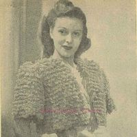 Fluffy looped bed-jacket - more free vintage knitting patterns