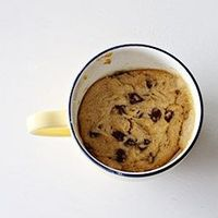 Chocolate Chip Cookie in a Cup - A homemade chocolate chip cookie in less than 5 minutes.