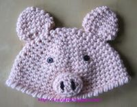 Free Piggy Hat Crochet Pattern