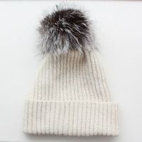Beanie with removable fur pom-pom. Obviously I would use faux fur.