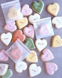 conversation heart cookies (recipe)