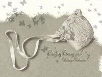 $3.50 - 1940's Crochet Embroidered Baby Bonnet Pattern