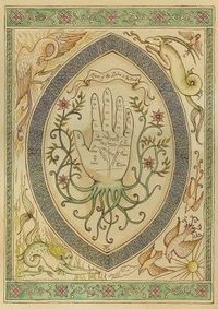 The art of palmistry.