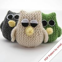 Small Owl #knitting pattern