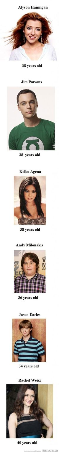 Celebrities who don't look their age