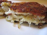 Brie,pears,blue cheese,mozzarella,carmamelized onions