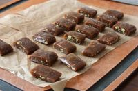 low-fat Vanilla-pistachio caramels