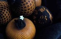 Fishnets to decorate pumpkins
