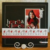 Red, white and black layout