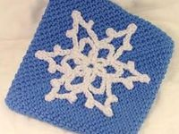 How to Make a Crocheted Snowflake Pot Holder : Decorating : Home & Garden Television