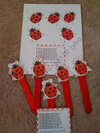 Lady Bug Sticks