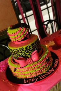 The cake at Betsey Johnson's 70th birthday party.