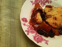 Sexy Vegan Mama's Blackberry Peach Cobbler: This cobbler combines the fresh tastes of summer with ripe blackberries, married with succulent peac...[read more at Food Frenzy]
